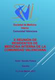 X Reunión de Residentes de Medicina Interna de la Comunidad Valenciana