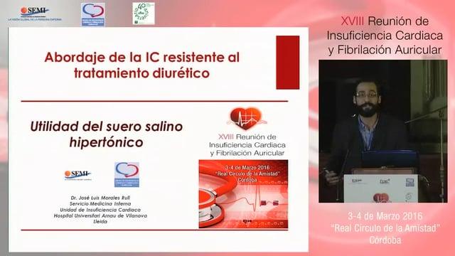 Taller 3: Abordaje del paciente con insuficiencia cardiaca resistente al tratamiento diurético. Utilidad del suero salino hipertónico