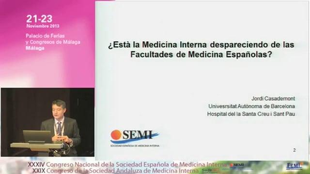 Patología General como paradigma de la enseñanza de la Medicina Interna en el grado