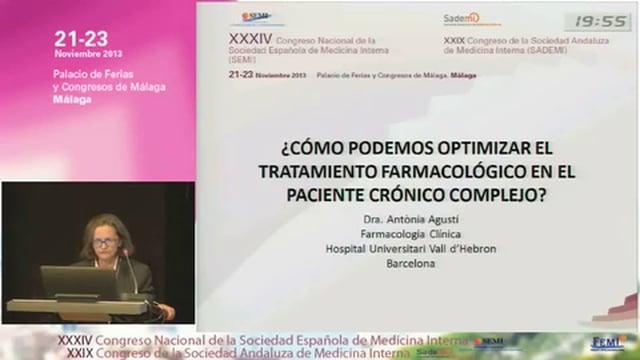 ¿Cómo podemos optimizar el tratamiento farmacológico en el paciente crónico complejo?