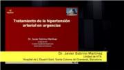 Tratamiento de la hipertensión arterial en urgencias