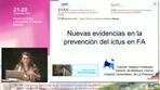 Nuevas evidencias en la prevención del ictus en FA