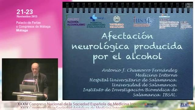 Afectación neurológica producida por el alcohol