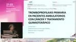Profilaxis en pacientes ambulatorios con cáncer que reciben tratamiento quimioterápico