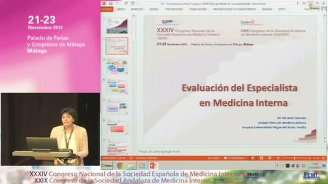 La Evaluación del Especialista en Medicina Interna