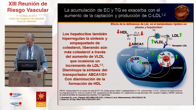 Conferencia: Déficit de lipasa ácida lisosomal y riesgo cardiovascular