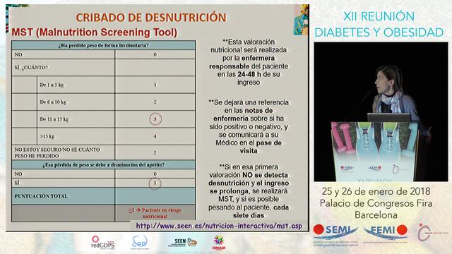 ENCUENTRO CON EL EXPERTO 3: EVALUACIÓN Y TRATAMIENTO NUTRICIONAL EN EL PACIENTE HOSPITALIZADO